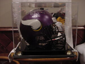 AWESOME Adrian Peterson Minnesota Vikings Auto'd Riddell Full Size Helmet, WOW!!