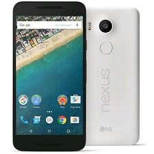 Unlocked LG Nexus 5X H790 32GB WHITE (QUARTZ) 4G LTE Android Smartphone US Model