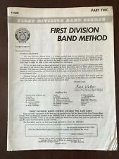 Vintage 1968 First Division Band Method, Part Two - For C Flute, By Fred Weber
