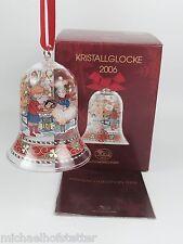 Hutschenreuther Glasglocke Kristall Glocke Weihnachtsglocke 2006 mit Verpackung