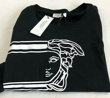 VERSACE COLLECTION MENS SHORT SLEEVE T-SHIRT  BLACK/WHITE XXL  NWT