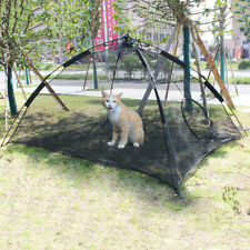 Portable Pet Dog Puppy Cat Happy Habitat Playpen Indoor Outdoor Patio Mesh Tent