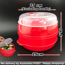 2 Tier Microwave Steamer Double Layer Cooking Meals Kitchen Syd Vegetable 2016