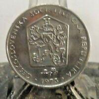 CIRCULATED 1973 2 KCS CZECHOSLOVAKI COIN (71019).....FREE DOMESTIC SHIPPING!!!!!