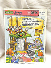 Vintage Frame Tray Puzzle GROUCHY KING COLE Golden Books Sesame Street Oscar