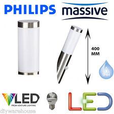 PHILIPS MASSIVE UTRECHT PIR SENSOR LED 5.9W STAINLESS STEEL WALL LIGHT 400MM
