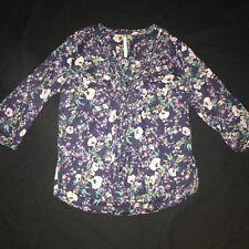 LC Lauren Conrad Floral Blouse Top Shirt Woman's Large Summer Spring