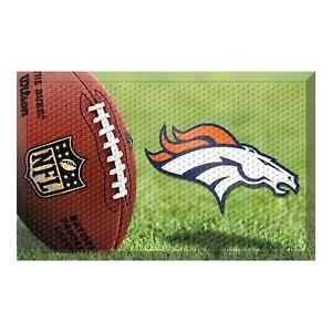 "Fanmats NFL Denver Broncos Scraper Mat Door Mat 20"" x 30"" 2-4 Day Delivery"