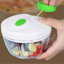 White Kitchen Onion Vegetable Chopper Hand Speedy Chopper Fruit Shredder Slicer