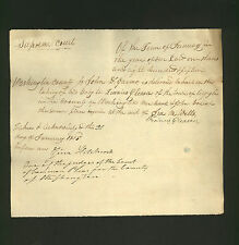 signed 1815 New York court document * Zina Hitchcock * Zion Church, Hudson Falls