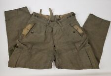 BAWI Men's Heavy Wool Cargo Pants Military VINTAGE 1960 German  Button Fly 32x29
