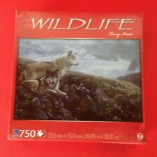 Wildlife Puzzle of 2 Wolves Surveying Surroundings 750 piece Puzzle