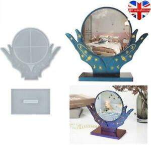 Silicone Makeup Table Desk Mirror Making Mold Resin Epoxy Mould Casting Craft.