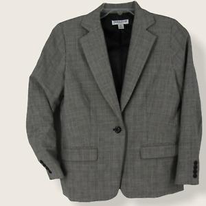 Pendleton Womens 1 Button Jacket Blazer Size Petite 6 Gray Wool