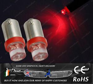 LED Bax9S H6W 433 434 Xenon Red Interior Speedo Dash Bulbs Lights Car Bike 12V