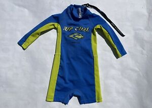 Rip Curl baby size one long sleeve blue green wetsuit swimsuit