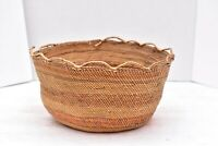 "Native American Pacific Northwestern coast Makah basket Nootka Tri  9"" x 5"""