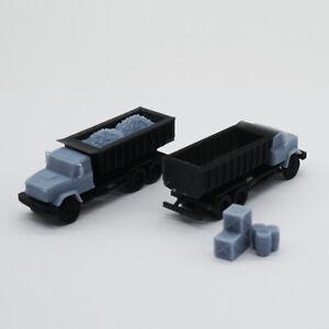Outland Models Model Railroad Scenery Heavy Duty Dump Truck Set w Goods N Scale