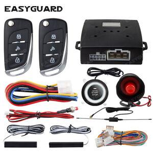 EASYGUARD start stop keyless entry system pke car alarm remote start stop DC12V
