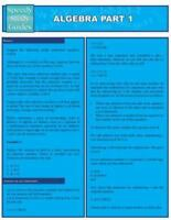 Algebra Part 1 (Speedy Study Guides: Academic), Brand New, Free shipping in t...