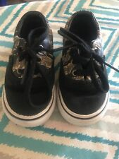 Toddler Baby Vans Size 5C Shoes Black Camo