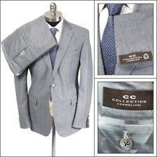 $1495 NWT CORNELIANI CC COLLECTION Gray Micro-Stripe Slim 2Btn Suit 52 8R 42 R!