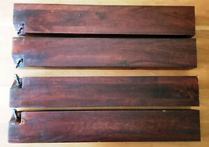 "Set of 4 Crate & Barrel Straight Table Legs, Hard Wood, 27.625"" x 4.5"" x 3.5"""