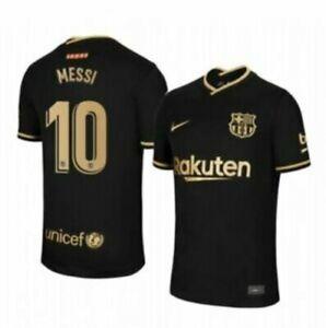 NIKE FC BARCELONA 20/21 DRY-FIT LA LIGA MATCH AWAY JERSEY #10 MESSI SIZE ADULT L