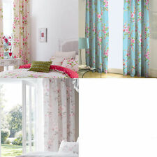 Catherine Lansfield Contemporary Floral Curtains & Pelmets