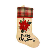 Christmas Stocking 18'' Xmas Character 3D Plush with Faux Fur Cuff P8Z9