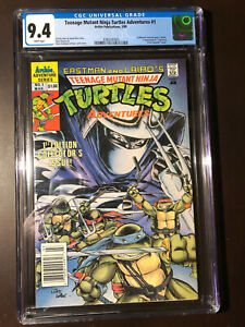 Teenage Mutant Ninja Turtles Adventures #1 (1989) CGC 9.4 NM WP NEWSSTAND!