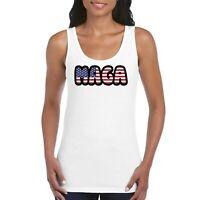 Make America Great Again MAGA Girls Women's Ladies Tank Top Vest T Shirt White