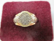 14K Yellow Gold Men's Diamond Ring