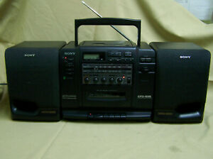 Sony CFD-535 Radio Cassette Stereo Boombox Mega Bass Equalizer AS IS/NO CD