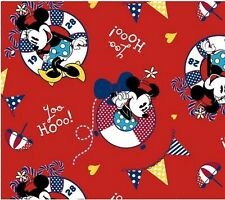 21 Inches W Disney Minnie Mouse Nautical Red Cotton Fabric