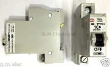 MEM EATON 10 AMP TYPE 3/C 10A MCB 101MC BILL 3T101 MEMSHIELD 101C MB3 M9 BS3871