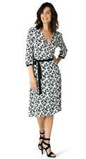 -20% Wickel Kleid schwarz weiß von Yest, Gr. 44 46 48 neu Viscose 39505