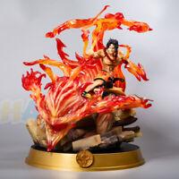 One Piece Top des Krieges Portgas·D·Ace bemalte Figur Statue Spielzeug Sammlung