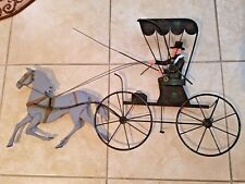 C. JERE Coach Buggy Horse Sculpture SIGNED Curtis MID CENTURY Post Modern RARE!