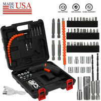45 in1 Rechargeable Wireless Cordless Electric Screwdriver Drill Kit Power Tool