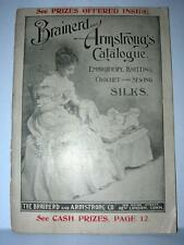 1897 BRAINERD AND ARMSTRONG CATALOGUE EMBROIDERY,KNITTING CROCHET & SEWING SILKS