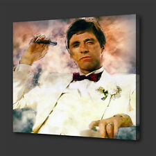 TONY MONTANA SCARFACE BOX MOUNTED CANVAS PRINT WALL ART PICTURE PHOTO