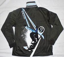 Sean John Men's Black 1/4 Zip Pull Over Track Jacket Large Snowboard Graphics