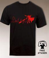 Devil May Cry Logo T shirt DMC Dante Vergil Classic Retro Gamers Top Mens S- XXL