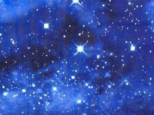 RPFTT56K Space Galaxy Stars Cool Twilight Starry Night Sky Cotton Quilt Fabric