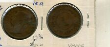 1878 STRAITS SETTLEMENTS ONE CENT COIN VG SCRATCHED RARE 6736F