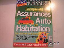 ** Que Choisir HS n°66 Comparatif Assurance auto et Habitation