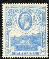 St Helena1922 bright-blue 3d multi-script CA perf 14 mint SG91