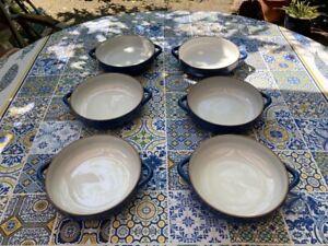 6 Suppenteller Ammerland - 6355 Blue 19 cm mit Henkel  - gebraucht