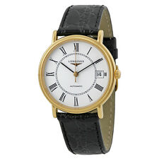 Longines Presence Automatic Black Leather Mens Watch L4.821.2.11.2